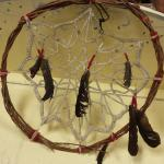 "Vintage Prison Art Dream Catcher.  Made in the 1990's at Dixon Correctional Institute.  Measures 20"" in diameter.  Pre-owned & in excellent condition.  $50.00 obo"