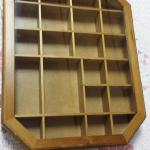 Octagon Wood Shadow Box.  Measures 11.5 x 2 x 14.5.  Pre-owned & in excellent condition.  $24.00 obo
