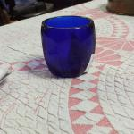 Cobalt Blue Tealight Holder.  Cool piece.  Pre-owned & in excellent condition.  $12.00 obo