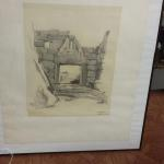 Works by Frank Montana.  Framed pencil sketch.  From University of Notre Dame School of Architecture.  Measures 22.5 x 28.5.  Pre-owned & in excellent condition.  $200.00 obo