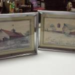 Barn Pictures with Silver Frames.  Gorgeous art.  Each measures 16 x 10.  Pre-owned & in excellent condition.  $50.00 each obo