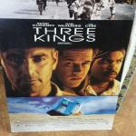 "1999 ""Three Kings"" Movie Poster.  From Warner Bros Film.  Professionally mounted.  Measures 27"" x 40"".  Pre-owned & in excellent condition.  $30.00 obo"
