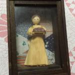 "Vintage Corn Husk Lady in Shadow Box.  Adorable Hand made item.  Measures 6"" x 8"".  Pre-owned & in excellent condition.  $20.00 obo"