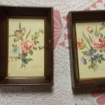 "Vintage Framed Flowers by Griolotti.  Beautiful.  Each measures 4.5"" x 6.5"".  Pre-owned & in excellent condition.  $15.00 each obo"