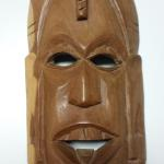 Hand Carved Kenya Face.  Believe to be balsam wood.  Pre-owned & in excellent condition.  $15.00 obo
