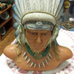 Ceramic Indian Bust.  Beautiful.  Pre-owned & in excellent condition.  $50.00 obo