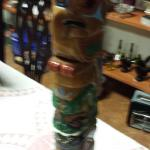 Handmade Alaskan Totem Pole.  Very detailed piece.  Pre-owned & in excellent condition.  $45.00 obo