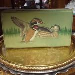 Ducks Rectangular Tin Box.  Great display piece.  Pre-owned & in excellent condition.  $12.00 obo