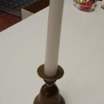 Brass Etched Bell Candlestick Holder.  Adorable piece.  Pre-owned & in excellent condition.  $15.00 obo