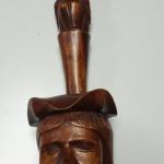 "Hand Carved Wood Head with Hole Wall Hanger.  Very unique piece.  Measures 5.5"" x 19""h.  Pre-owned & in excellent condition.  $20.00 obo"
