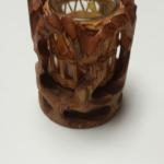 Hand Carved Wood Candle Holder.  Very detailed.  Pre-owned & in excellent condition.  $15.00 obo