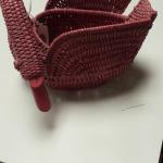 "Pink Wicker Goose Basket.  Adorable.  Measures 5"" x 7.5"" x 6"".  Pre-owned & in excellent condition.  $15.00 obo"