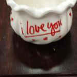 "I Love You Planter Pot.  Adorable with many uses.  Measures 5"" in diameter.  Pre-owned & in excellent condition.  $15.00 obo"