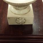 Porcelain Square Candle Holder.  Great Accents.  Pre-owned & in excellent condition.  $12.00 obo