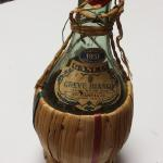 1951 Gancia Greve Bianco Italian White Wine Wicker Bottle.  Great bottle for candleholder.  Pre-owned & in excellent condition.  $22.00 obo