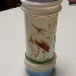 Vintage Hand Painted Tall Glass Votive.  Gorgeous and well painted.  Pre-owned & in excellent condition.  $22.00  obo