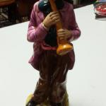"Vintage Hand Painted Horn Player Statute.  Beautifully painted.  Measures 12"" high.  Pre-owned & in excellent condition.  $22.00 obo"