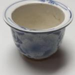 "Small Blue Porcelain Planter Pots.  Gorgeous.  Hole in bottom for drainage.  Measures 5"".  Pre-owned & excellent condition.  $20.00 obo"