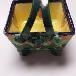 Handmade & Painted Italian Ceramic Basket.  Gorgeous piece.  Pre-owned & in excellent condition.  $20.00 ob