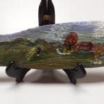 "Hand Painted Scene on Wood.  Beautifully illustrated.  Measures approximately 12"" long.  Pre-owned & in excellent condition.  $20.00 obo"