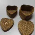 Wicker Heart Baskets.  One Basket fits inside the other.  Pre-owned & in excellent condition.  $15.00 obo