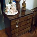 "Small Wood Dresser Desk.  Measures 29""l x 16""w x 30""h.  Pre-owned & in excellent condition.  $80.00 obo"