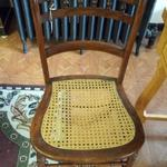 "Vintage E.W. Pyfer Cane Chair.  Solid with great detail.  Measures 17""l x 16""w x 30""h.  Pre-owned & in good condition, some minor cane issue.  $45.00 obo"