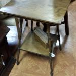 "Vintage Folk Art Wood Table.  Beautiful Table.  Measures 20"" square x 28.5"" high.  Pre-owned & in great condition.  $50.00 obo"