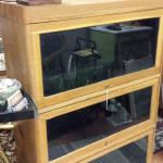 Vintage Lawyers Bookcase with Glass.  Gorgeous piece.  Breaks down into 5 pieces for easy moving.  Pre-owned & in excellent condition.  $225.00 obo