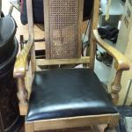 Vintage Kings Dining Chair with Cane Back.  Gorgeous Chair.  Naugahyde seat.  Pre-owned & in excellent condition.  $150.00 obo