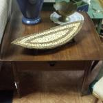 "Vintage Walnut End Table.  Beautiful table with a drawer.  Measures 28""l x 28""w x 21""h.  Pre-owned & in excellent condition.  $69.00 obo"