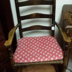 Vintage Telephone Chair with Wicker Seat.  Adorable Chair.  Cushion included.  $70.00 obo