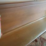 Vintage Oak Church Pew.  Beautiful and solid.  Measures 8 feet long.  Each end has a carved cross in it.  Pre-owned & in great condition, has slight crack on back.  $250.00 obo