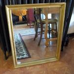 "Large Gold Framed Mirror.  Gorgeous and was professionally framed.  Measures 25.5""l x 2""w x 32""h.  Pre-owned & in good condition  $55.00 obo"