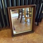 "Small Brown Wood Mirror.  Beautiful and was professionally framed.  Measures 17""l x 1.5""w x 21""h.  Pre-owned & in excellent condition.  $48.00 obo"