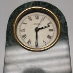 Green Marble Quartz Table Clock.  This Clock is from Gallery Collection.  Pre-owned & in excellent condition.  $30.00 obo