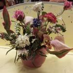 Mauve Faux Flower Arrangement.  Pre-owned & in excellent condition.  $17.00 obo