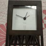 Metal Framed Quartz Clock..  Great piece.  Measures 6.5 x 4.  Pre-owned & in excellent condition.  $15.00 obo