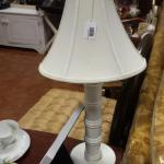 White Plastic Lamp with Shade.  Adorable.  Pre-owned & in excellent condition.  $20.00 obo