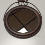 Small Round Over the Door Mirror.  Great piece.  Pre-owned & in excellent condition.  $15.00 obo