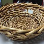"Large Hand Braided Wood Basket with Handles.  Measures 15.5"" in diameter.  Pre-owned & in excellent condition.  $29.00 obo"