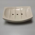White Ceramic Soap Bar Dish.  Pre-owned & in excellent condition.  $5.00 obo