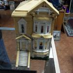 Vintage Ceramic House Cookie Jar.  Great detail of a Victorian Home.  Pre-owned & in excellent condition.  $25.00 obo