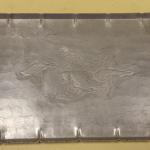Vintage Hammered Aluminum Tray with Etched Ducks.  Great piece with handles.  Measures 16 x 11.5.  Pre-owned & in excellent condition.  $15.00 obo