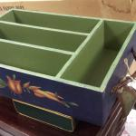 The Stonehouse Farm Collection Flatware Caddy.  Hand painted by Tracy Porter.  Measures 15.5 x 10.5 x 3.5.  Pre-owned & in excellent condition.  $35.00 obo