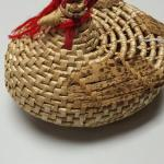 Hand Weaved Chicken Basket.  Adorable.  Top is removable.  Measures 6.5 x8.5 x 6.  Pre-owned & in great condition.  $15.00 obo