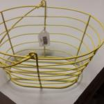 "Yellow Wire Basket with Handle.  Measures 9"" x 8"" x 5.5"".  Pre-owned & in excellent condition.  $12.00 obo"