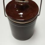 Vintage Brown Cheese Crock with Lid.  Great Vintage piece.  Pre-owned & in excellent condition.  $10.00 obo