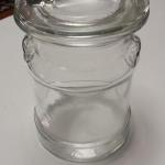 Glass Milk Can with Lid.  Great piece for Cookie Jar or Pet Treat Jar.  Pre-owned & in excellent condition.  $16.00 obo