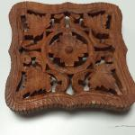 Hand Carved Wood Hot Plate.  Made in India.  Great piece.  Pre-owned & in excellent condition.  $15.00 obo